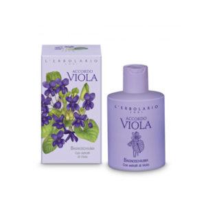 Accordo viola bagnoschiuma
