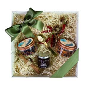 Pacchetto regalo Trio Tè e Marmellata Gourmet
